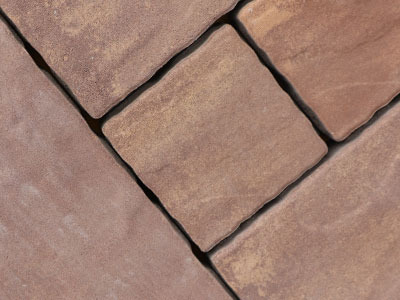 褐色园林透水砖